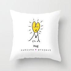 HUG by ISHISHA PROJECT Throw Pillow
