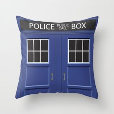 Tardis - Doctor Who Throw Pillow