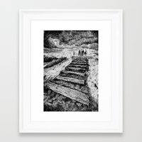 Storm - Ink Framed Art Print