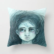 The Blower's Daughter Throw Pillow