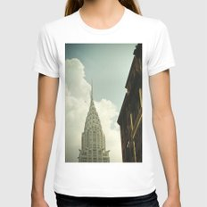 The city of the fighting styles Womens Fitted Tee White SMALL