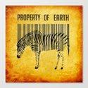 The encoded zebra Canvas Print