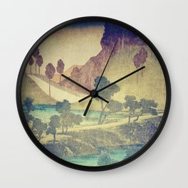 Wall Clock - A Valley in the Evening - Kijiermono