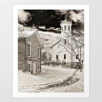 Everal Barn in February Westerville, Ohio Art Print