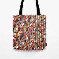 Beach Knit Ikat Arrow Tote Bag