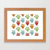 Owl Fun Framed Art Print