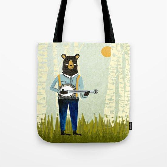 Bear's Bourree - Bear Playing Banjo Tote Bag