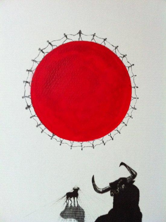 Solen går sin gang pt 2 Canvas Print