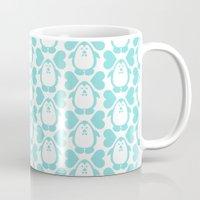 NGWINI - penguin love pattern 3 Mug
