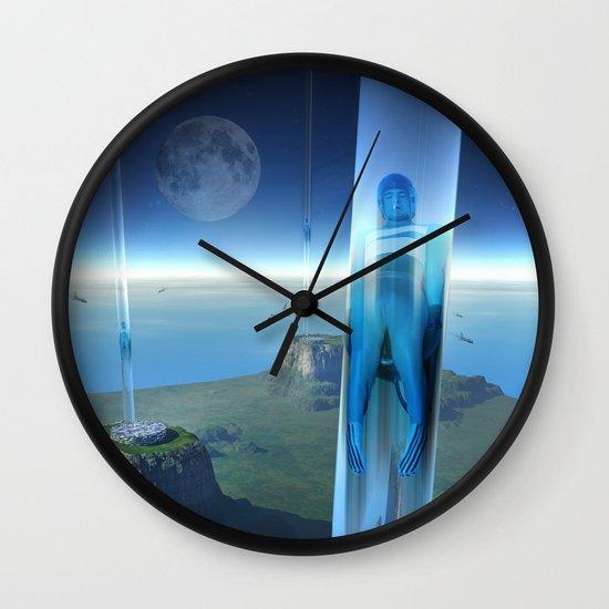 space elevator - babylon transfer station 02 Wall Clock