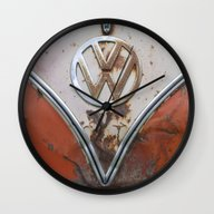 Rusty VW Wall Clock