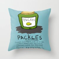 Packles Throw Pillow