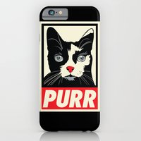 iPhone & iPod Case featuring PURR Propaganda by Rachel Caldwell