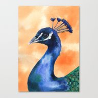 Peacock Print, Bird Art,… Canvas Print