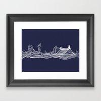 Sailors In A Row Boat & … Framed Art Print