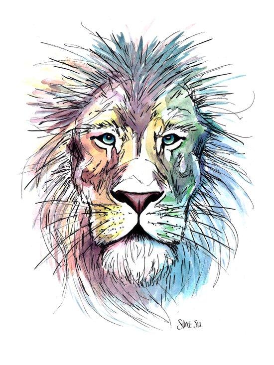 Technicolor Cat Canvas Print