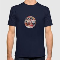 Liándonos Mens Fitted Tee Navy SMALL