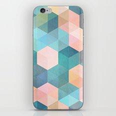Child's Play 2 - hexagon pattern in soft blue, pink, peach & aqua iPhone & iPod Skin