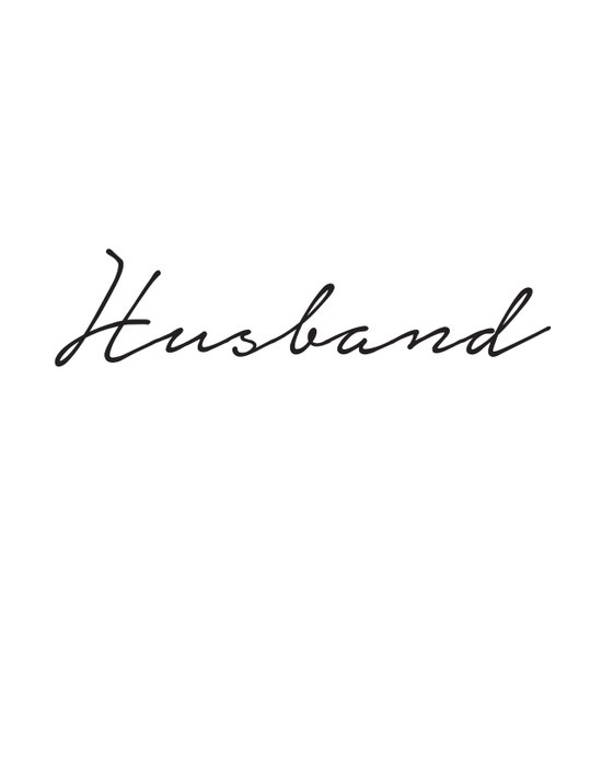 Husband Art Print