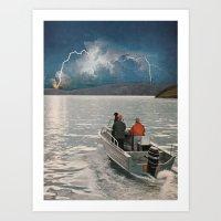 Ride Towards The Lightning Art Print