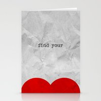 find your half (1 of 2 parts)  Stationery Cards