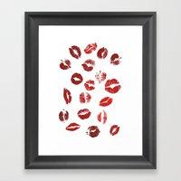 Pucker Up Framed Art Print