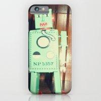 green robot! ~ mid century atomic tin toy iPhone 6 Slim Case
