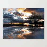 Del Mar Point Sunset Canvas Print