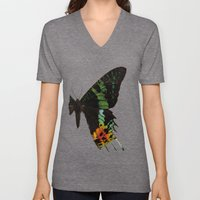 Sunset Moth Wing Unisex V-Neck