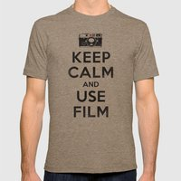 Keep Calm And Use Film Mens Fitted Tee Tri-Coffee SMALL