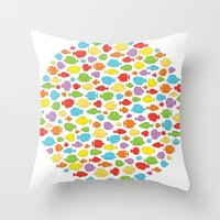 Something fishy going on Throw Pillow