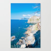 Italian Coastline Canvas Print