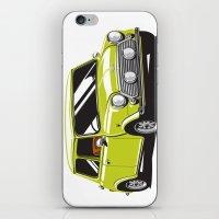 Mini Cooper Car - Chartreuse iPhone & iPod Skin