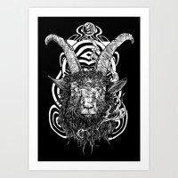 Goat 'em All Art Print