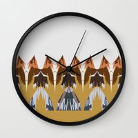 In the Mountains Wall Clock