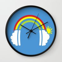 Rainbowphones Wall Clock