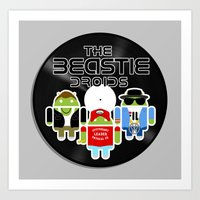 The Beastie Droids Art Print
