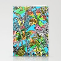 psychedelic garden Stationery Cards