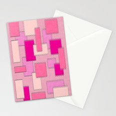 Pink Patches Stationery Cards