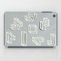 Tetris Papercut iPad Case