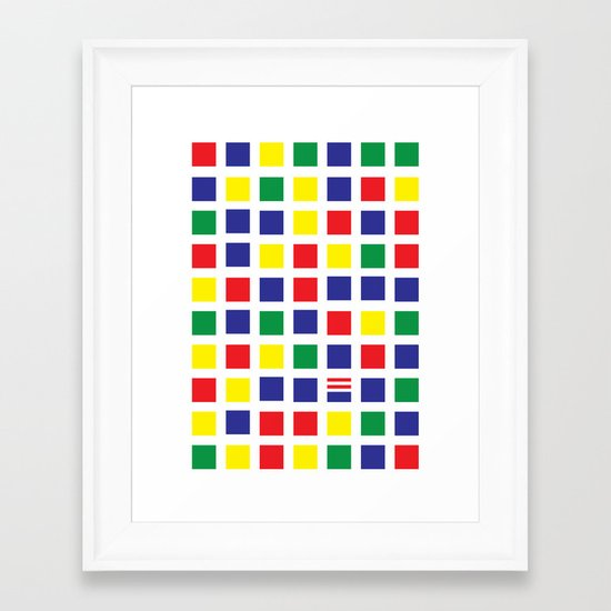 Square's Waldo Framed Art Print