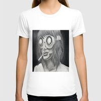 Self Destruct Womens Fitted Tee White SMALL