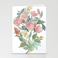 Floral poster Stationery Cards