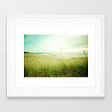 September at the Beach Framed Art Print