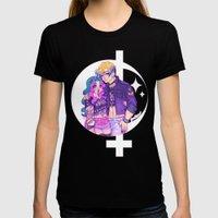 Pastel Goth Haruka & Mic… Womens Fitted Tee Black SMALL