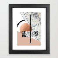 Collage II ( Marble, Cop… Framed Art Print