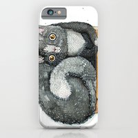 iPhone & iPod Case featuring Cat  by Nora Illustration