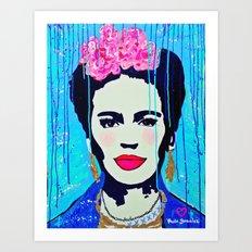 Frida Kahlo,  Happy Frida Art Print