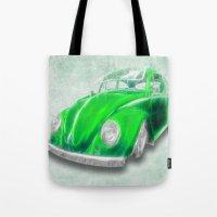 VW Beetle Green Tote Bag