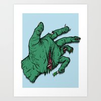 Addict's Hand Art Print